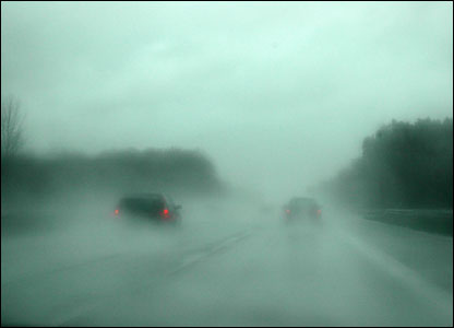 Motorway in the rain