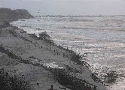 High seas at Palanga on the Lithuanian coast (Pic: Daiva Andrade Gonzalez)