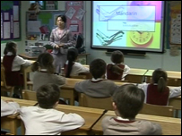 Pupils being taught to speak Mandarin