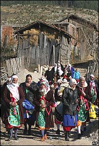 Mujeres en un pueblo de Bulgaria