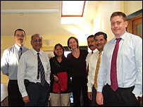 Taylors staff with Indian experts