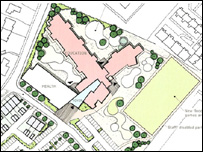 Proposal plans for the leisure centre site