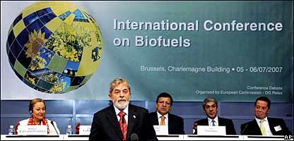 El presidente de Brasil en la conferencia sobre biocombustibles