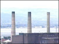 The chimneys at the power station will be razed to the ground