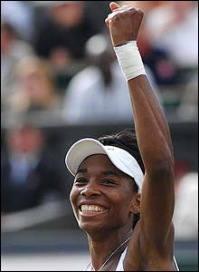 Venus Williams celebrates