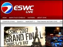 Screengrab of E-Sports World Cup homepage, ESWC