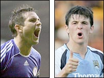 Frank Lampard and Joey Barton