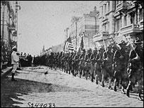 Парад американских войск во Владивостоке в августе 1918 г.