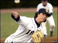 Jeff Samardzija in action for Notre Dame.