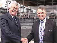 First Minister Rhodri Morgan and Plaid Cymru leader Ieuan Wyn Jones