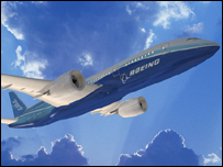 Boeing image of its new plane