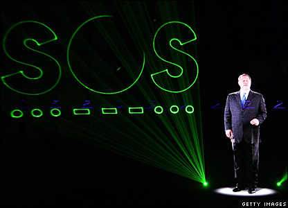 Al Gore appears as a hologram at Live Earth in Tokyo