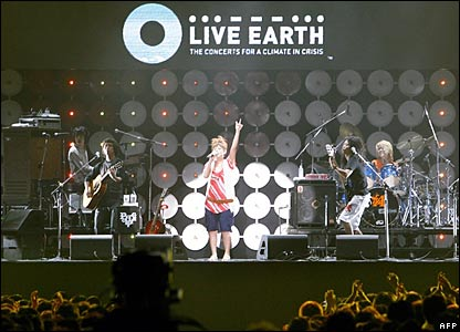 Singer Ayaka performs at Live Earth in Tokyo