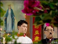 Catholic service in southern China
