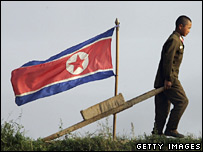 North Korean soldier, Sinuiju, October 2006