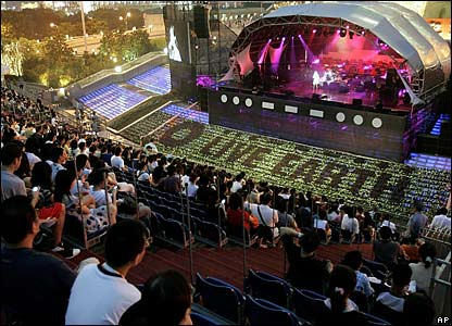 The Live Earth stage in Shanghai