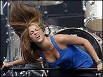 Shakira plays at Live Earth in Hamburg