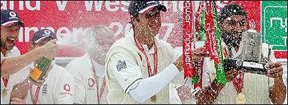 England came out on top in the Test series