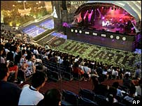 The stage at Live Earth in Shanghai