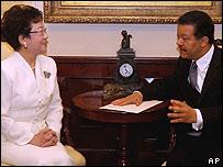 Vicepresidenta de Taiwán, Annette Lu y presidente de República Dominicana, Leonel Ferández