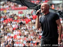 Phil Collins of Genesis at Live Earth in London