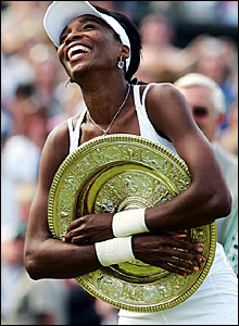 Venus Williams with the trophy