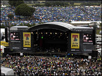 T in the Park site