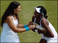 Marion Bartoli and Venus Williams