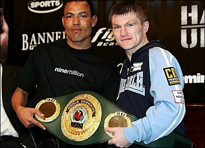 Jose Luis Castillo (left) and Ricky Hatton unveil their plans to meet on 2 June