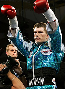 Ricky Hatton enters the ring