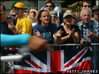 British fans at the prologue of the Tour de France
