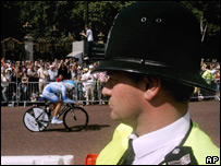 A British police officer at the Tour de France