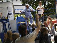 The Tour de France publicity caravan
