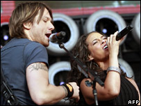 Keith Urban and Alicia Keys