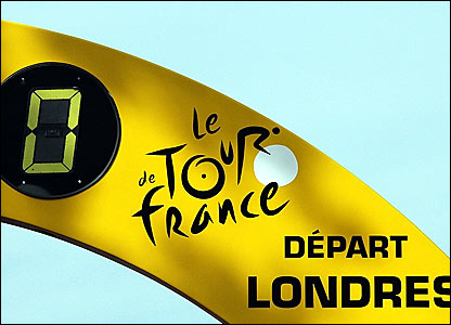The start banner for the 2007 Tour de France