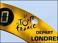 The moment Le Tour left London and entered Kent