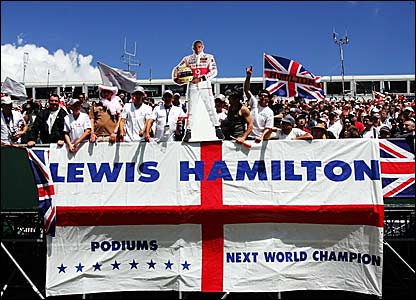 Lewis Hamilton fans at Silverstone