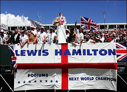 Lewis Hamilton fans at Silverstone