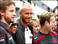 The Beckhams meet the Honda crew