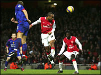 Arsenal skipper Thierry Henry scores the winner