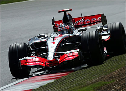 Fernando Alonso leads the British Grand Prix
