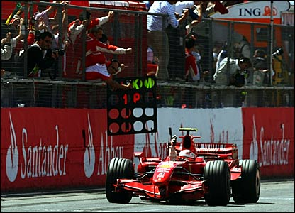 Kimi Raikkonen wins the British Grand Prix