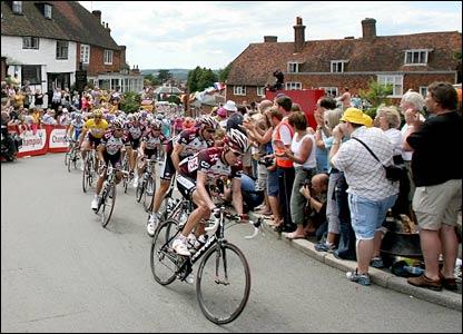 The race passes through Goudhurst in Kent