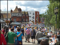 Crowds in Tonbridge