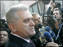 Serbian Radical Party PM candidate Tomislav Nikolic