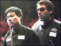 Ding Junhai and Ronnie O'Sullivan