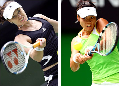 Martina Hingis and fourth-round opponent Li Na