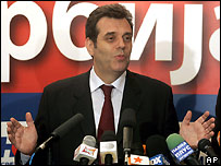 Serbian Prime Minister Vojislav Kostunica