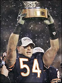 Chicago linebacker Brian Urlacher