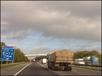 Traffic on the M1 in Yorkshire